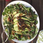 Baby Kale and Quinoa Salad with Dates, Avocado and Citrus Hibiscus Vinaigrette