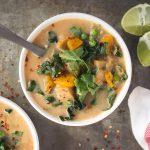 Slow Cooker Coconut Red Curry Vegetable Soup