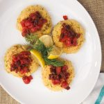 Grain-free Crab Cakes with Red Pepper Relish