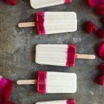 Creamy Tahini Raspberry Rosewater Popsicles