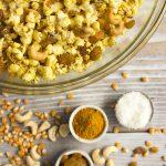 Curry Popcorn Snack Mix