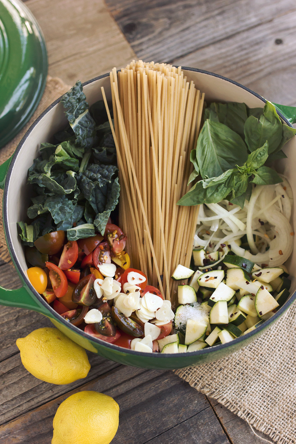 Late Summer Farmers Market One Pot Pasta Gluten Free