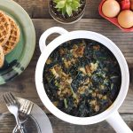 Sausage and Kale Waffle Stratta