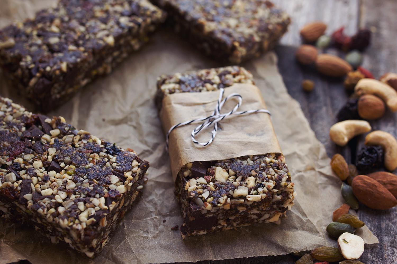 Chocolate Trail Mix Energy Bars Tasty Yummies