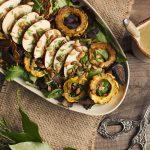 Autumn Harvest Salad with Green Horseradish Vinaigrette