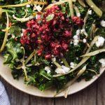 Warm Kale Salad with Roasted Fennel and Cranberry Meyer Lemon Salsa