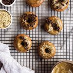Banana Bread Gluten-free Doughnuts with Maple Hemp Heart Glaze