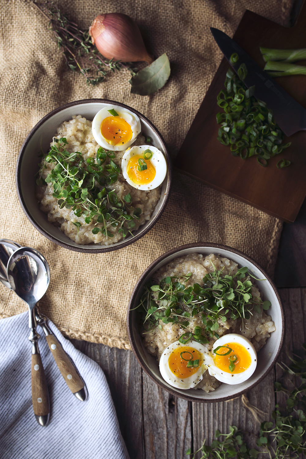 Savory Sprouted Grain Breakfast Porridge with Soft Cooked Egg {Gluten ...