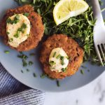 Grain-free Salmon Cakes with Old Bay Aioli