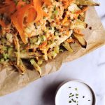 Buffalo Style Loaded Sweet Potato Fries