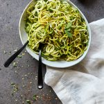 "Grain-free Basil and Mint Zucchini ""Noodles"""