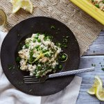 Spring Cauliflower Rice Risotto Bake with Chicken