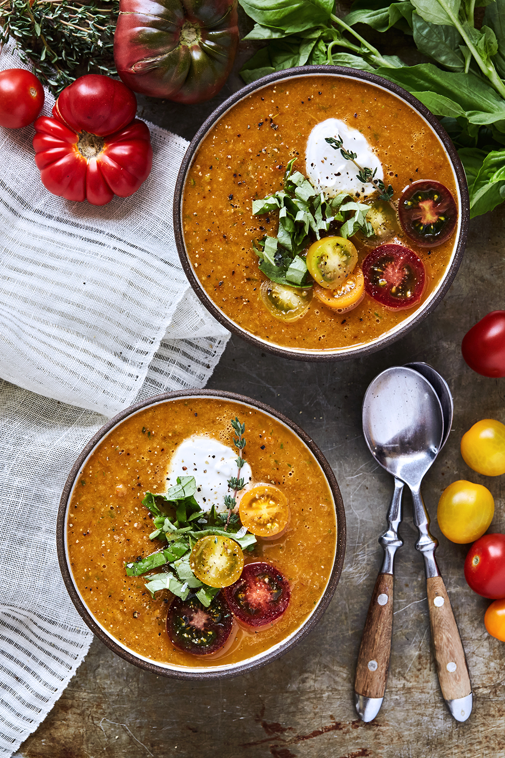 Chilled Roasted Heirloom Tomato Soup - Tasty Yummies