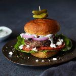 Greek Lamb Burgers with Tzatziki {gluten-free, paleo-friendly}