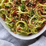 Summer Squash Salad with Basil Vinaigrette and Crispy Prosciutto