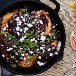 Skillet Roasted Chicken Thighs with Balsamic Fig Compote