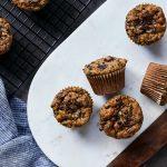 Grain-free Zucchini Cacao Nib Muffins {Paleo-friendly}