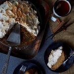 Grain-free Pumpkin Pie with Gingersnap Macaroon Crust and Cinnamon Vanilla Meringue