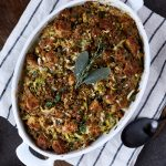 Paleo Sausage and Herb Bread Stuffing (Low Carb, Nut-free)