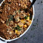Grain-free Savory Butternut Squash and Kale Crumble