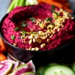 Roasted Beet Cauliflower Hummus {Paleo-friendly}