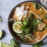 Super Quick Coconut Red Curry Soup {paleo, keto, Whole30 Veg Options}