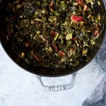 Bone Broth Braised Greens {Paleo, Gluten-free, Whole30, AIP}