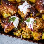Sheet Pan Tandoori Chicken and Cauliflower {Paleo, Keto, Whole30}
