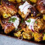 Sheet Pan Tandoori Chicken and Cauliflower {Paleo, Keto, Whole30}