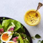 Spring Salad with Lemony Turmeric Yogurt Dressing {Paleo, Dairy-free, Whole30, Vegan}
