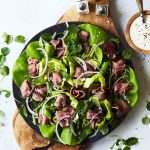 Beef on Weck Salad with Horseradish Caraway Dressing {Paleo, Keto, Whole30}