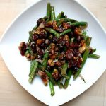 Green Beans with Toasted Walnuts and Dried-Cranberry Vinaigrette