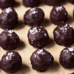 Dark Chocolate Crispy Peanut Butter Balls – No Bake {Gluten-Free + Cane Sugar-Free}
